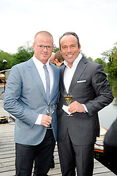 Left to right, chef HESTON BLUMENTHAL and JEAN-LUC NARET Directeur GŽnŽral of the Michelin Guide at a party to celebrate The Waterside Inn's 25 years as a 3 star Michelin restaurant held at The Waterside Inn, Bray, Berkshire on 18th May 2010.<br /> Left to right, chef HESTON BLUMENTHAL and JEAN-LUC NARET Directeur Général of the Michelin Guide at a party to celebrate The Waterside Inn's 25 years as a 3 star Michelin restaurant held at The Waterside Inn, Bray, Berkshire on 18th May 2010.