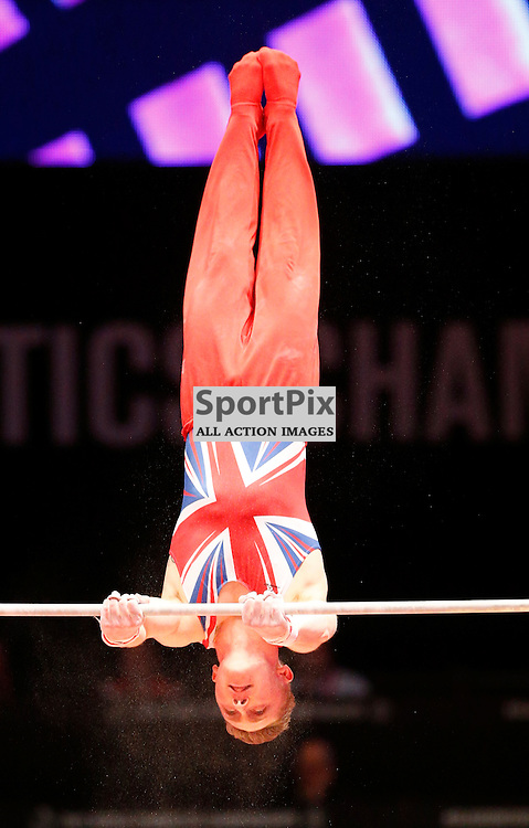 2015 Artistic Gymnastics World Championships being held in Glasgow from 23rd October to 1st November 2015...Nile Wilson (Great Britain) competing in the Horizontal Bar competition..(c) STEPHEN LAWSON | SportPix.org.uk