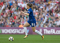 Football - SSE Women's FA Cup Final - Arsenal Women vs. Chelsea Ladies<br /> <br /> Maren Mjelde (Chelsea Ladies FC) breaks out from defence  at Wembley Stadium.<br /> <br /> COLORSPORT/DANIEL BEARHAM