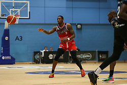 Fred Thomas of Bristol Flyers passes the ball - Photo mandatory by-line: Arron Gent/JMP - 07/12/2019 - BASKETBALL - Surrey Sports Park - Guildford, England - Surrey Scorchers v Bristol Flyers - British Basketball League Championship