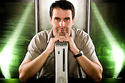 Robbie Bach, Microsoft X-Box 360.  Shot with X-Box 360.