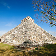 El Castillo (also known as Temple of Kuklcan) at the ancient Mayan ruins at Chichen Itza, Yucatan, Mexico 081216092224_1911x.tif