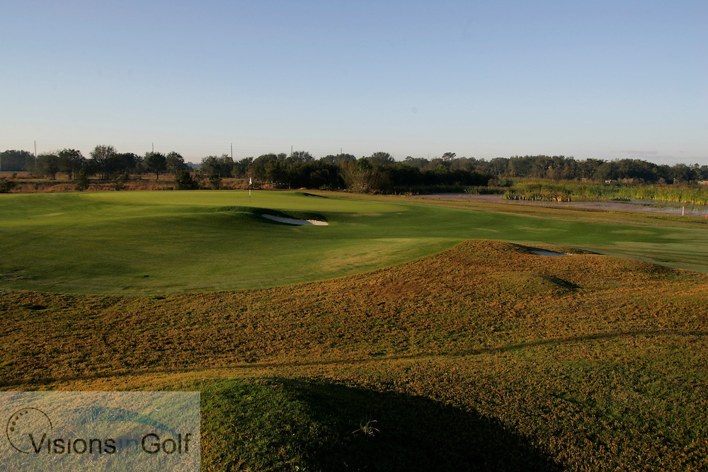 The 7th hole at The International Course, Champions Gate, Florida USA. Designed by Greg Norman<br /> <br /> Photo Mark Newcombe