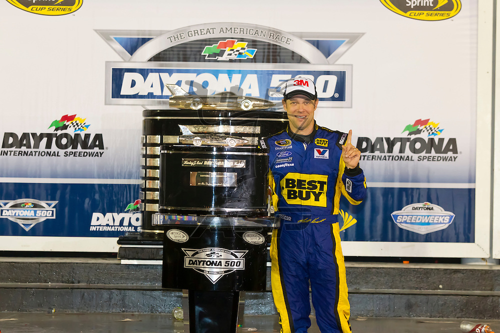 DAYTONA BEACH, FL - Feb 28, 2012:  Matt Kenseth wins the the Daytona 500 at the Daytona International Speedway in Daytona Beach, FL.