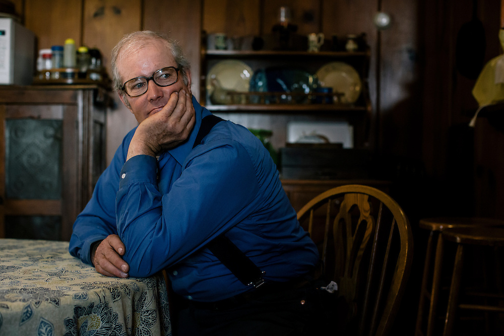 SWOOPE, VA - MARCH 26 Pasture-based farmer Joel Salatin runs Polyface Farms in Swoope, Va. on March 26, 2015. Salatin is one of the heroes of the sustainable-food movement, and he appeals to both left- and right-wing audiences.  (Photo by Greg Kahn/GRAIN for The Washington Post)
