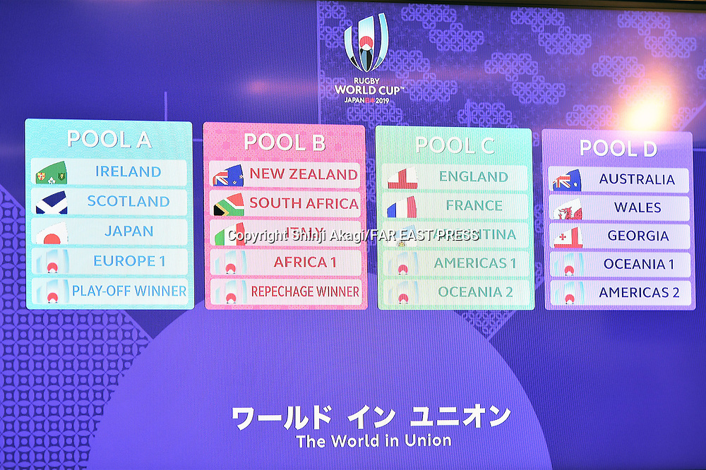General view, MAY 10, 2017 - Rugby : Rugby World Cup 2019 pool draw at Kyoto State Guest House in Kyoto, Japan. (Photo by FAR EAST PRESS/AFLO)