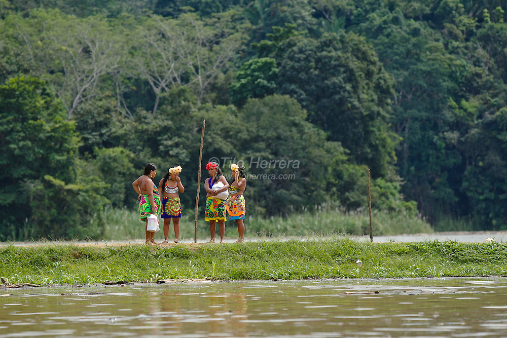 Embera Indigenous of the Embera Drua Reservation by the Chagres River in Panama, Friday, November 18, 2011. Photo: Tito Herrera/www.titoherrera.com