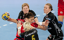 Andrea Penezic of Krim during handball match between RK Krim Mercator and Larvik HK (NOR) of Women's EHF Champions League 2011/2012, on November 13, 2011 in Arena Stozice, Ljubljana, Slovenia. Larvik defeated Krim 22-19. (Photo By Vid Ponikvar / Sportida.com)