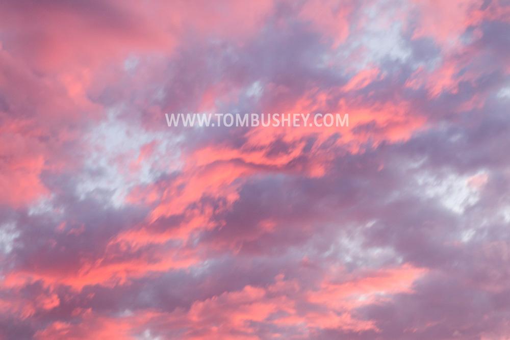 Middletown, New York - Sunset at Fancher-Davidge Park  on July 18, 2015.