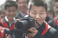 Boy With A Canon Digital Camera, Pyongyang, North Korea