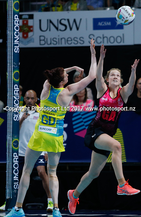 Jamie Hume during the Fast5 Netball world series match between New Zealand Silver Ferns and Australia at Hisense Arena Melbourne Australia. Saturday 28th October 2017. Copyright Photo. Brendon Ratnayake / www.photosport.nz