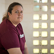 MARCH 22, 2018--CORAL SPRINGS, FLORIDA<br /> Ashley Kurth a culinary arts teacher at Marjorie Stoneman Douglass High School in Parkland, Florida, photographed in a baseball park where her son was playing. Kurt opened the door to her classroom to allow more students in during the events of February 14, 2018, when a former student opened fired in the school killing 17 people including students and staff. <br /> (PHOTO BY ANGELVALENTIN/FREELANCE)