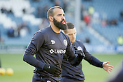 Queens Park Rangers midfielder Raniere Sandro (30) warming up during the EFL Sky Bet Championship match between Queens Park Rangers and Ipswich Town at the Loftus Road Stadium, London, England on 2 January 2017. Photo by Andy Walter.