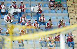 Godba Domzale plays music during 1st Leg football match between NK Domzale (SLO) na FC Cukaricki (SRB) in 1st Round of Europe League 2015/2016 Qualifications, on July 2, 2015 in Sports park Domzale,  Slovenia. Photo by Vid Ponikvar / Sportida
