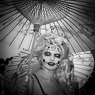 New York . Brooklyn. Mermaid parade in Coney island , Brighton beach  / parade des sirènes parade deguisee humoristique  .Coney island.  Brighton beach, new york  Usa