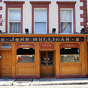 Mulligans Pub of Poolbeg Street, Dublin is two minutes walk from the main thoroughfare, O'Connell Street and has been at the core of the city's cultural and imbibing life for nearly 300 years. Originally a shebeen (unlicensed drinking venue) it has been 'legal' since 1782, making it one of the oldest premises in Ireland's metropolis. Dublin, Ireland. Photo Tim Clayton