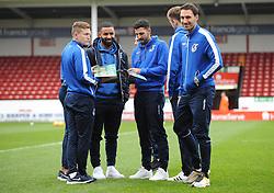 Bristol Rovers players arrive prior to kick-off - Mandatory by-line: Nizaam Jones/JMP - 26/12/2018 - FOOTBALL - Banks's Stadium - Walsall, England- Walsall v Bristol Rovers - Sky Bet League One
