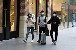 © Licensed to London News Pictures. 15/03/2020. London, UK. People wearing protective face masks amid an increased number of Coronavirus (COVID-19) cases in the UK. 21 coronavirus victims have died and 820 cases have tested positive for the virus in the UK. 167 people across London have tested positive for the virus. Photo credit: Dinendra Haria/LNP
