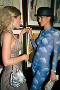 HOFIT GOLAN AND JASMINE LENNARD, Patti and Andy Wong  host a night of Surrealism to Celebrate the Chinese Year of the Rat. County Hall Gallery and Dali Universe. London. 27 January 2008. -DO NOT ARCHIVE-© Copyright Photograph by Dafydd Jones. 248 Clapham Rd. London SW9 0PZ. Tel 0207 820 0771. www.dafjones.com.