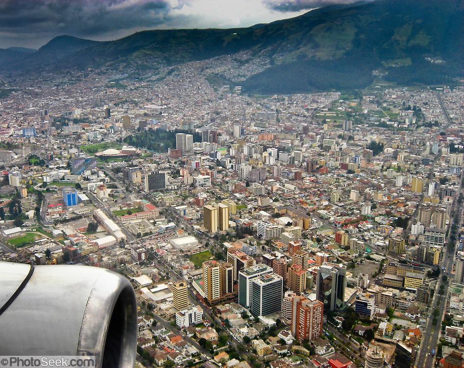 Aerial Overview Quito Capital Of Ecuador South America - Capital of ecuador