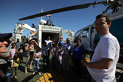 MAURITIUS 8MAY13 - Open boat day at the Esperanza in port in La Reunion.<br /> <br /> The Greenpeace ship Esperanza is on patrol in the Indian Ocean documenting fishing activties.<br /> <br /> <br /> <br /> jre/Photo by Jiri Rezac / Greenpeace