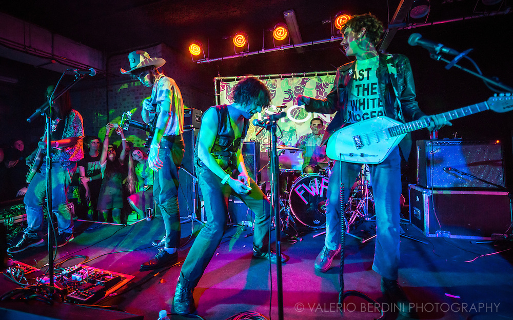 Fat White Family live at the Laundry for Visions Festival 2015 in Hackney, London<br /> <br /> This photo has been published on the Guardian print and online on Jan 2016 http://www.theguardian.com/culture/2016/jan/04/150-unmissable-culture-events-2016