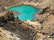 Emerald Lakes, on the Tongariro Crossing, Tongariro National Park, North Island, New Zealand