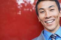 Smiling Young Businessman close-up