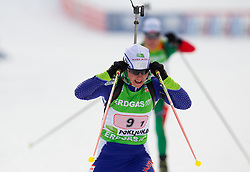 Andreja Mali of Slovenia during the Mixed 2x6 + 2x7,5km relay of the e.on IBU Biathlon World Cup on Saturday, December 19, 2010 in Pokljuka, Slovenia. The fourth e.on IBU World Cup stage is taking place in Rudno polje - Pokljuka, Slovenia until Sunday December 19, 2010. (Photo By Vid Ponikvar / Sportida.com)