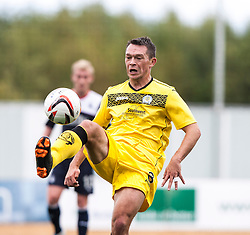 Queen of the South's Derek Young.<br /> Falkirk 2 v 1 Queen of the South, Scottish Championship 5/10/2013, played at The Falkirk Stadium.<br /> &copy;Michael Schofield.