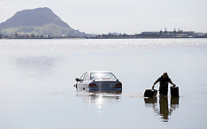 Tauranga-Car drives into harbour off Takitimu Drive