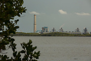 turkey point nuclear power plant as seen from Biscayne National Park, Florida.