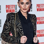 Amber Davies attend Pretty Woman The Musical press night at Piccadilly Theatre on 2nd March 2020, London, UK.