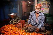 Fruit Seller - Night Market, Bangalore, India