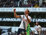 Tottenham Hotspur striker Harry Kane scoring penalty during the Barclays Premier League match between Tottenham Hotspur and Sunderland at White Hart Lane, London, England on 16 January 2016. Photo by Matthew Redman.