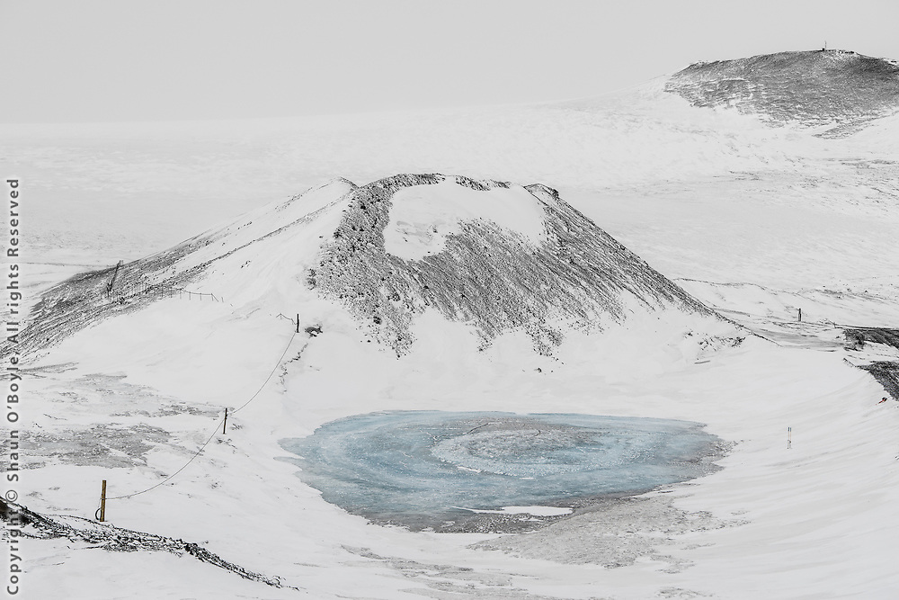 Blue hole, Erebus Glacier beyond.