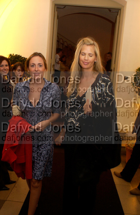 Amelia Freer and Catherine Viale, Jo Malone 10th anniversary party. The Undercroft, The  Banqueting House. Whitehall. 21 October 2004. ONE TIME USE ONLY - DO NOT ARCHIVE  © Copyright Photograph by Dafydd Jones 66 Stockwell Park Rd. London SW9 0DA Tel 020 7733 0108 www.dafjones.com