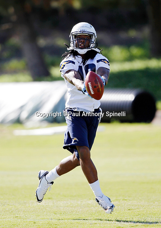 San Diego Chargers rookie wide receiver Richard Goodman (16) catches a pass during a Chargers rookie minicamp on May 7, 2010 in San Diego, California. (©Paul Anthony Spinelli)