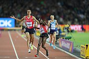 Conseslus Kipruto wins  3000m steeple chase at the World Championships 080817 at the London Stadium, London, England on 8 August 2017. Photo by Myriam Cawston.