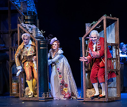 Edinburgh, Scotland, UK. 23 August, 2018. Preview of Rossini's opera La Cenerentola ( Cinderella) by Opera de Lyon and directed by Stefan Herheim at the Festival Theatre and part of the Edinburgh International Festival.