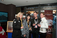 Manuel Salchli poses with media for the Grand Opening of the House of Switzerland in Whistler for the 2010 Winter Olympic Games.