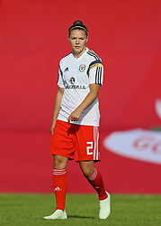 NEWPORT, WALES - Tuesday, June 12, 2018: Wales' Loren Dykes during the pre-match warm-up before the FIFA Women's World Cup 2019 Qualifying Round Group 1 match between Wales and Russia at Newport Stadium. (Pic by David Rawcliffe/Propaganda)