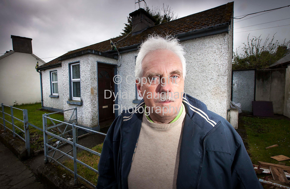 17/4/2012.Des Murphy pictured at the hop use in Kilkenny where his aunt Nancy Smyth was killed..Picture Dylan Vaughan.