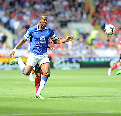 Everton's Sylvain Distin  - Photo mandatory by-line: Alex James/JMP - Tel: Mobile: 07966 386802 31/08/2013 - SPORT - FOOTBALL - Cardiff City Stadium - Cardiff - Cardiff City V Everton - Barclays Premier League