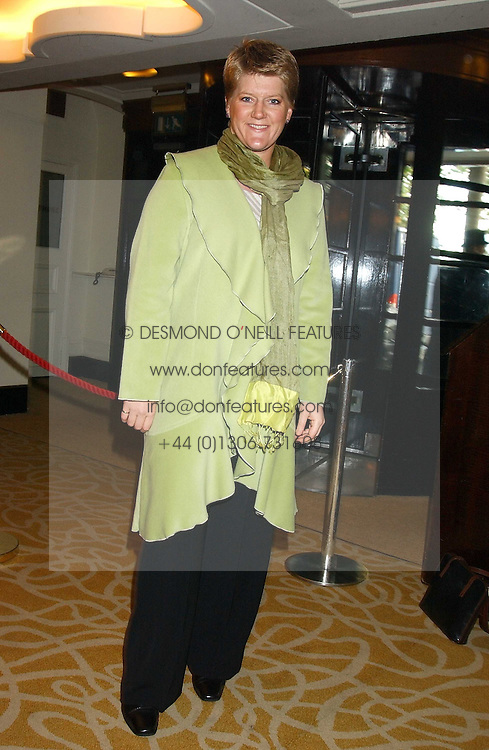 CLARE BALDING at The Sir Peter O'Sullevan Charitable Trust Lunch at The Savoy, London on 23rd November 2005.<br />