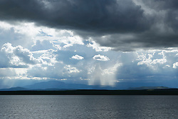 Dramatic sky over a lake in New Mexico