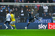Francisco Casilla of Leeds United (33) in action during the EFL Sky Bet Championship match between Preston North End and Leeds United at Deepdale, Preston, England on 9 April 2019.