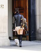 24.MARCH.2011. LONDON<br /> <br /> DAISY LOWE DRIVING THROUGH REGENTS PARK ON HER WAY TO HOLBURN. ON HER WAY SHE STOPS TO LET HER DOG GO TO THE TOILET. THE DOG THEN TRIES TO ATTACK TWO RUNNERS LEGS BEFORE BEING PULLED BACK INTO THE CAR BY DAISY. <br /> <br /> BYLINE: EDBIMAGEARCHIVE.COM<br /> <br /> *THIS IMAGE IS STRICTLY FOR UK NEWSPAPERS AND MAGAZINES ONLY*<br /> *FOR WORLD WIDE SALES AND WEB USE PLEASE CONTACT EDBIMAGEARCHIVE - 0208 954 5968*