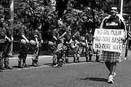 Roma 09/06/2007 - Corteo di protesta della sinistra radicale e no global contro la visita in Italia del presidente americano George Bush.