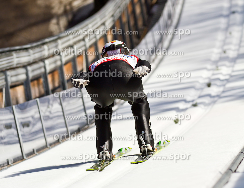 06.02.2011, Heini Klopfer Skiflugschanze, Oberstdorf, GER, FIS World Cup, Ski Jumping, Teamwettbewerb, Probedurchgang, im Bild Roman Koudelka (CZE) , during ski jump at the ski jumping world cup Trail round in Oberstdorf, Germany on 06/02/2011, EXPA Pictures © 2011, PhotoCredit: EXPA/ P. Rinderer